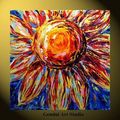 Sunflower painting print on canvas flower Gemini by grace Painting Prints, Painting & Drawing, Paintings, Canvas Art, Canvas Prints, Photo D Art, Love Art, Painting Inspiration, Diy Art