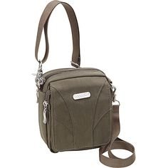 #FabricHandbags, #Handbags - baggallini Globetrotter Mini Dark Olive/Spice - baggallini Fabric Handbags