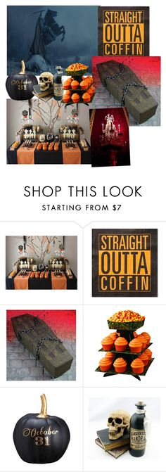 """""""Halloween Party"""" by krisnicoleb ❤ liked on Polyvore featuring interior, interiors, interior design, home, home decor, interior decorating, Burton, Humör, Wilton and Allstate Floral"""