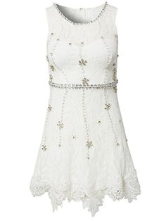 Lace Shift Decor Dress - Nly One - White - Party Dresses - Clothing - Women - Nelly.com