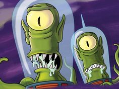 Aliens (The Simpsons) Simpsons Lego, The Simpsons Show, Futurama, Simpsons Characters, Disney Characters, Aliens, Simpsons Quotes, Alien Art, Cartoon Shows