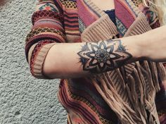 mandala tattoo sleeve for women