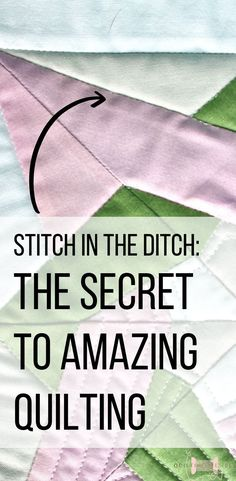 Do you have problems with your quilting not quite popping like the ones done by the professionals? It might not be you, it might be the quilting! Continue reading to see how stitching in the ditch can elevate your quilt game to the next level and give you the clean defined look you are missing. #Machinequilting #stitchintheditch #quilting #howtomakeaquilt #quiltingtutorial Quilting For Beginners, Quilting Tips, Quilting Tutorials, Quilting Projects, Quilting Designs, Beginner Quilting, Sewing Tutorials, Free Motion Quilting, Hand Quilting