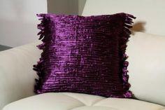 Image detail for -Purple metalic cushion