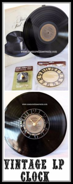 Father's Day Gift Idea  Vintage LP (record) clock Quick and Easy project for all the Dad's who loves Music