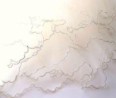Vintage Ivory Bridal Veil. Beaded  WEDDING Veil. by ShabbyPeonie, $30.00