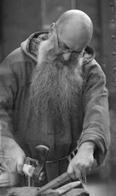 A monk at work