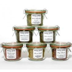 The Whole Spice Mediterranean Small Weck Jar Gift Set includes a variety of flavors found in the Mediterranean region. These delicious flavors have endless cooking possibilities! House Seasoning Recipe, Fennel Pollen, Weck Jars, Spice Set, Chili Lime, Spice Blends, Jar Gifts, Cooking Recipes, Herbs