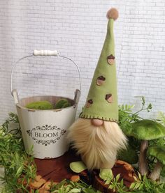 Spring is coming at he can't wait to plant flowers! See more cute gnomes at my shop flowervalleygnomes/shop/Etsy.com
