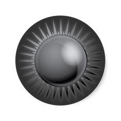 BLACK METALLIC SUN VECTOR FUTURISTIC GRAPHIC GREY STICKERS #cc
