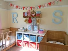 Great idea for sharing a bedroom (boys or girls room)
