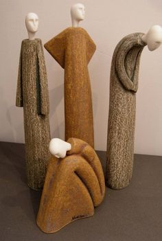 by Anastasaki___ ceramics Ceramic Clay, Ceramic Pottery, Pottery Art, Ceramic Figures, Clay Figures, Pottery Sculpture, Sculpture Clay, Ceramic Sculpture Figurative, Sculptures Céramiques