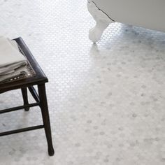 These gorgeous Hexagonal Mosaic tiles from Fired Earth are a subtle yet stylish addition to a bathroom Honeycomb Tile, Hexagon Mosaic Tile, Mosaic Bathroom, Marble Mosaic, Bathroom Floor Tiles, Bathroom Kids, Shower Tiles, Shower Floor, Master Bathroom