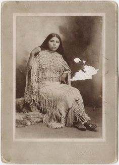 Apache Indian woman (Annie Berry) photographed in 1910, wearing traditional clothing