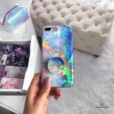 """9,356 Likes, 50 Comments - V E L V E T   C A V I A R (@velvetcaviar) on Instagram: """"Blue Opal vibes today with our fav PopSocket to match!available for iPhone 5, 6, 6+, 7 & 7+ link…"""""""