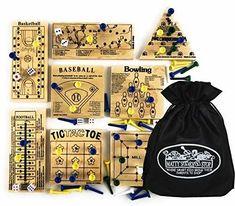 Peg Games Wood Puzzles (Baseball, Basketball, Bowling, Conqueror, Football, Golf, Mill