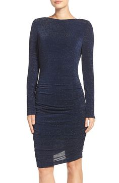 Vince Camuto Ruched Metallic Knit Body-Con Dress available at #Nordstrom