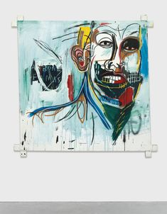 Jean-Michel Basquiat - Untitled, 1982 acrylic and oilstick on canvas mounted on wood supports, 60 ½ x 60 ½ in. Jean Basquiat, Jean Michel Basquiat Art, Guernica, Keith Haring, Art Pop, Pop Art Andy Warhol, Arte Latina, Robert Mapplethorpe, Art Brut