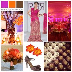 COLOR BOARD: Magenta, Orange, and Brown   Pink Lotus Events  https://pinklotusevents.wordpress.com/2012/10/08/color-board-magenta-orange-and-brown/ #indian #wedding #colorinspiration #PinkLotusEvents