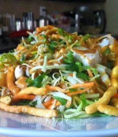 cool The oriental chicken salad is one of my favorites and is very easy to put t…