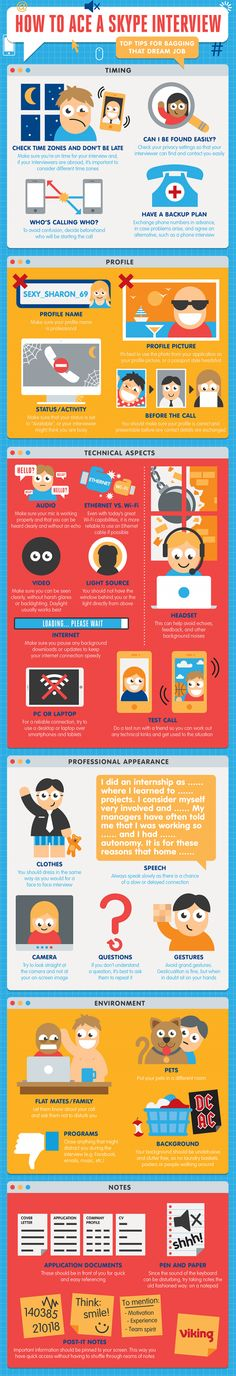 How to Ace a Skype Interview #Infographic #Career #Interview
