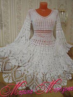 Crochet T Shirts, Crochet Cardigan, Crochet Clothes, Crochet Summer Dresses, Pineapple Crochet, Maternity Gowns, Fairy Dress, Irish Lace, Boho Dress