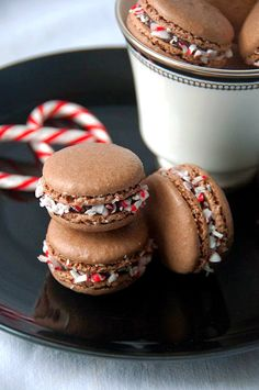 Chocolate Peppermint Macarons. YUM.