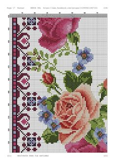 Cross Stitch Rose, Cross Stitch Flowers, Silk Ribbon Embroidery, Cross Stitch Embroidery, Brother Innovis, Free Pattern, Africa, Floral, Pink Tablecloth