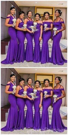 Mismatched Purple Mermaid Cheap Long Cheap Bridesmaid Dresses Online, WG646#bridesmaids #bridesmaiddress #bridesmaiddresses #dressesformaidofhonor #weddingparty #2020bridesmaiddresses