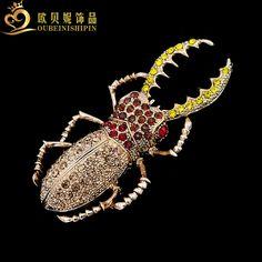Большой жук в винтажном стиле ~ 405 руб. Брошь.    http://ali.pub/16sory