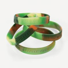 Camouflage Army Sayings Bracelets - OrientalTrading.com