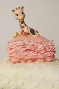 żyrafa Sophie na tortowej podusi :)
