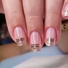 Discover recipes, home ideas, style inspiration and other ideas to try. Ongles Gel French, French Tip Nails, French Tips, Gender Reveal Nails, Seashell Nails, Overlay Nails, Em Nails, Fiberglass Nails, Nagellack Design