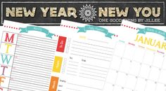 Getting Organized One Day/Week/Month At A Time   FREE Printable Planners! (These are great for your DIY planners, but the website opens popup ads. Just so you know.)