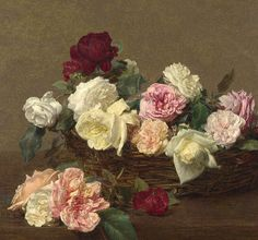 Roses by Fantin Latour