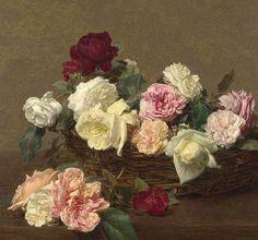 Roses by Fantin Latour