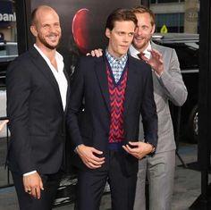 Alexander Skarsgård at his brother Bill Skarsgård's premiere of IT (2017)