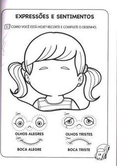 School Worksheets, Worksheets For Kids, Senses Preschool, Face Template, Infant Classroom, English Phonics, Sensory Book, Pre Kindergarten, Emotional Intelligence