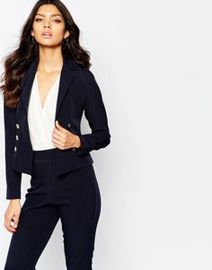 Image 1 of Vesper Suit Blazer With Gold Buttons
