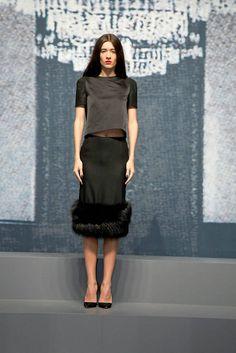 Katya Tolstova WES GORDON FALL 2012 RTW PODIUM Elle модель Катя Толстова