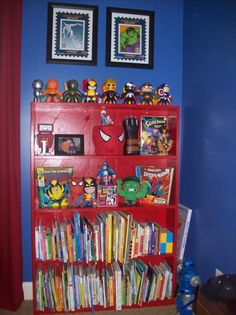 toddler comic book superhero room, this is a work in progress its