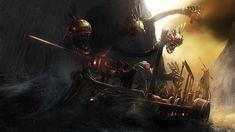 Scylla Attacks the Odyssey, 2008  CG Talk 'Steampunk' Challenge by Alex Jenyon        SketchUP, Painter, Photoshop