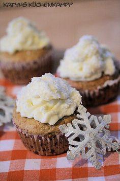 Vanille-Cupcakes - ganz einfach Low Carb -  #ichbacksmir #schneegestöber