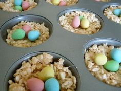 Rice Krispie nests w/ mini eggs
