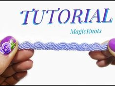 Easy Macrame Wave Bracelet with Beads ♥ DIY ♥ - YouTube