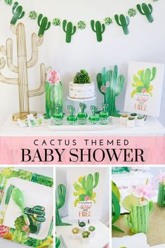 Throw your own cactus themed baby shower with tips and tricks from Michelle of M. - Party Inspiration - Throw your own cactus themed baby shower with tips and tricks from Michelle of Michelle's Party P - Baby Shower Gift Bags, Baby Shower Parties, Shower Favors, Baby Showers, Shower Party, Shower Invitations, Fiesta Baby Shower, Baby Boy Shower, Simple Baby Shower