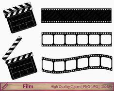 Movie clipart film clapperboard clip art film by PiXXartPictures Digital Collage, Collage Art, Movie Clipart, Kino Film, Kindergarten Graduation, Hollywood Theme, Clip Art, Movie Themes, Cinema Film