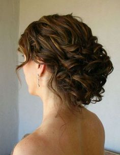 Loose Wedding Updo for Brunette Hair