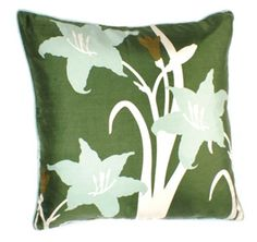 Lilies 22in Pillow by Thomas Paul