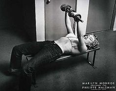 jean, fit, irons, marilyn monroe, philippehalsman, real women, weights, philippe halsman, marilynmonro